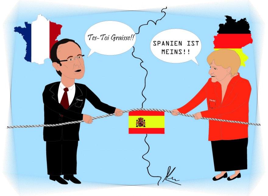 Hollande i merkel